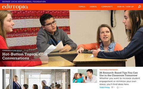Edutopia | K-12 Education Tips & Strategies That Work