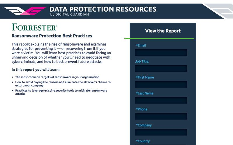 Forrester Ransomware Protection Best Practices