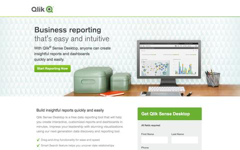 Screenshot of Landing Page qlik.com - Business Reporting that is easy and intuitive | Qlik - captured Dec. 30, 2015