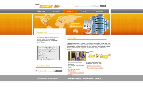 Screenshot of Services Page sikaigroup.com - Services ~ Sikai Ltd - captured Oct. 26, 2014
