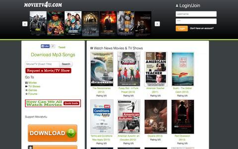 Screenshot of Press Page movietv4u.com - Watch News Movies & TV Shows - captured Nov. 2, 2014