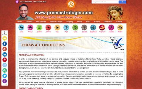 Screenshot of Terms Page premastrologer.com - Terms & Conditions | Premastrologer.com - captured Feb. 20, 2016