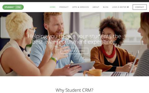 Screenshot of Home Page student-crm.co.uk - Student CRM - Data Harvesting - captured Oct. 7, 2018