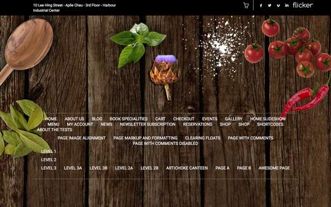 Screenshot of Menu Page artichokecanteen.com - Menu | artichoke [ canteen ] - captured Dec. 28, 2015
