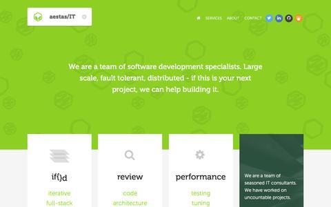 Screenshot of Home Page aestasit.com - Aestas/IT - Contacts - captured Dec. 24, 2015