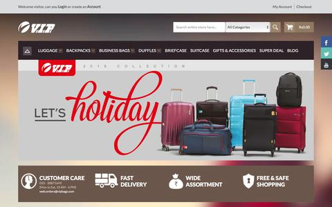 Screenshot of Products Page vipbags.com - VIP Bags Sale Upto 50% Off By VIP Industries Ltd Online Store - captured Sept. 22, 2018