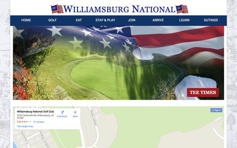 Screenshot of Maps & Directions Page wngc.com - Directions | Williamsburg National Golf Club - captured Oct. 25, 2017