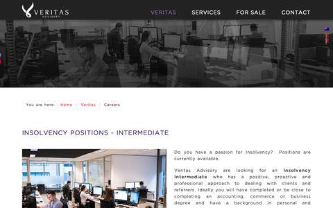 Screenshot of Jobs Page veritasadvisory.com.au - Veritas Advisory - Careers - captured Oct. 18, 2018