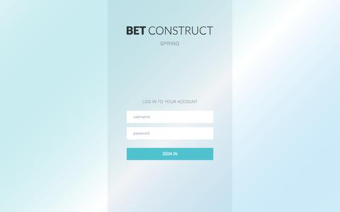 Screenshot of Login Page betconstruct.com captured Feb. 17, 2018