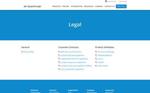 Legal - SiteMinder