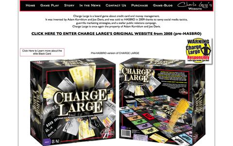 Screenshot of Home Page chargelargeboardgame.com - Charge Large Board Game | Credit Card Board Game - captured Sept. 26, 2014