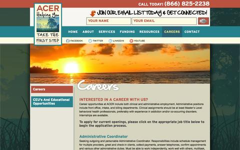 Screenshot of Jobs Page acercanhelp.com - Careers | ACER - captured Oct. 4, 2014