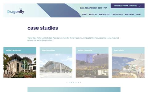 Screenshot of Case Studies Page dragonfly-training.co.uk - Dragonfly Training - By Teachers for Teachers - captured Aug. 7, 2018
