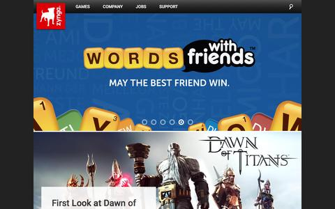 Screenshot of Home Page zynga.com - Zynga | Connecting the World Through Games - captured March 12, 2016
