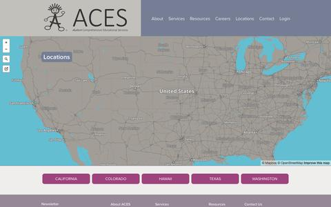 Screenshot of Locations Page acesaba.com - Locations | ACES - captured Nov. 2, 2014
