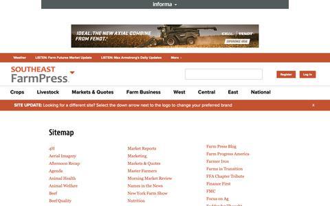 Screenshot of Site Map Page farmprogress.com - Sitemap   Farm Progress - captured Dec. 19, 2018