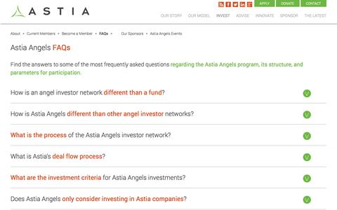 Screenshot of FAQ Page astia.org - FAQs : Astia – Propelling Women's Full Participation as Entrepreneurs & Leaders - captured Sept. 24, 2014