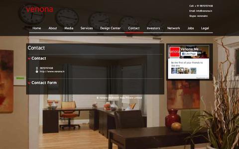 Screenshot of Contact Page venona.in - Venona Mediasoft - Contact - captured Sept. 30, 2015