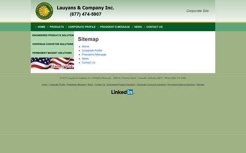 Screenshot of Site Map Page lauyans.com - Sitemap - Lauyans CorporateLauyans Corporate - captured Sept. 27, 2018