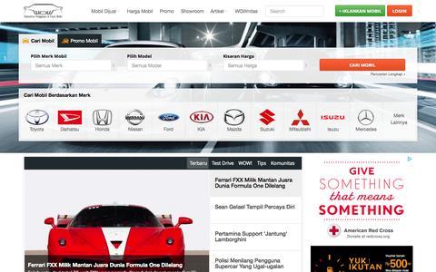 Screenshot of Home Page mobilwow.com - mobilWOW  - Komunitas Penggemar dan Pasar Mobil - captured Sept. 7, 2015