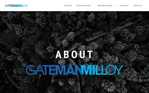 Screenshot of About Page gatemanmilloy.com - About Gateman Milloy | Gateman Milloy - captured Sept. 27, 2018