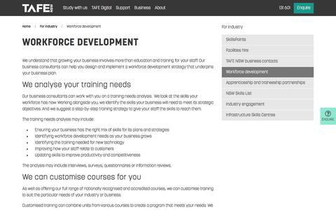 Workforce Development - Courses and Training - TAFE NSW