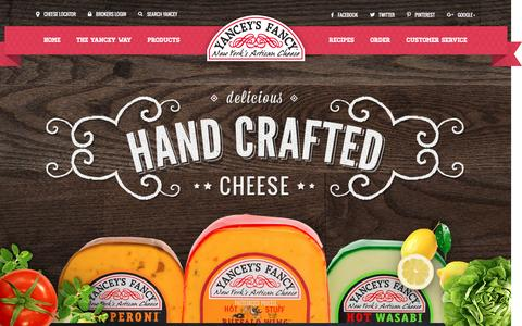 Screenshot of Home Page yanceysfancy.com - Yancey's Fancy :: New York's Artisan Cheese - captured Feb. 3, 2016