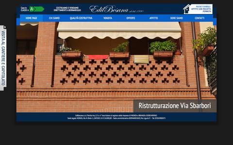 Screenshot of Home Page edilbesana.com - EdilBesana - captured Oct. 2, 2014