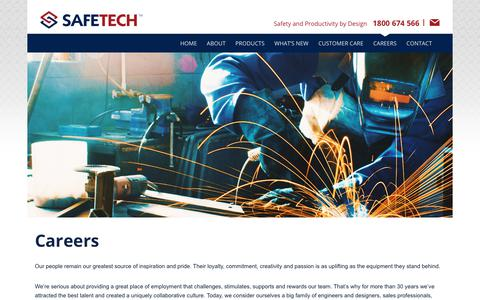 Screenshot of Jobs Page safetech.com.au - Careers & Job Vacancies at Safetech Pty Ltd - captured Oct. 1, 2018