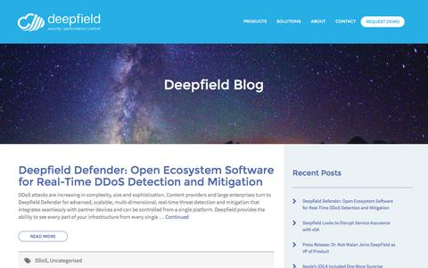 Screenshot of Blog deepfield.com - Blog – Deepfield - captured Aug. 1, 2016