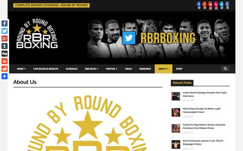 Screenshot of About Page roundbyroundboxing.com - Round By Round Boxing About Us | Round By Round Boxing - captured June 19, 2017