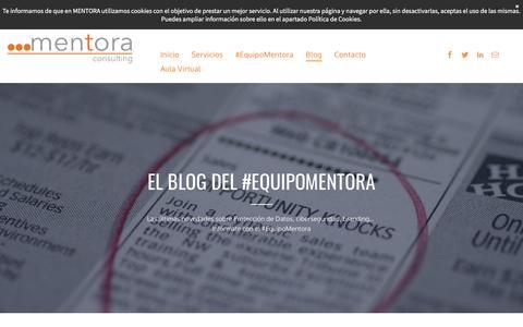 Screenshot of Blog mentora.es - Mentora Consulting   Protección de Datos - captured Sept. 7, 2019