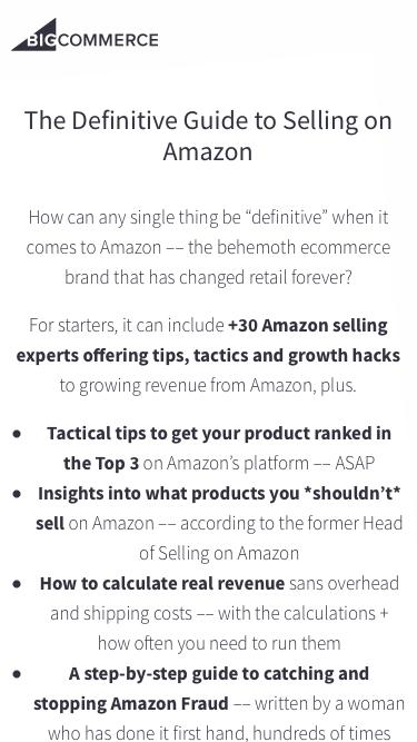 The Definitive Guide to Selling on Amazon | BigCommerce