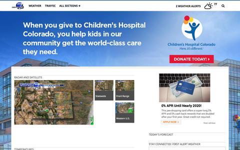 Screenshot of Maps & Directions Page thedenverchannel.com - Denver, CO Radar and Maps | Denver7 | thedenverchannel.com - captured Sept. 21, 2018