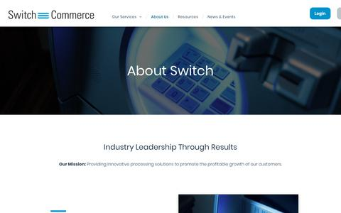 Screenshot of About Page switchcommerce.com - About - captured Oct. 20, 2018
