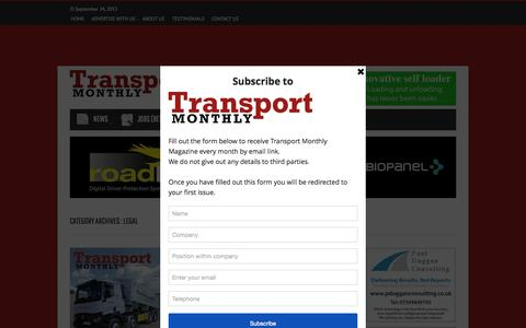 Screenshot of Terms Page transportmonthly.co.uk - Legal | Transport Monthly Magazine - captured Sept. 23, 2015