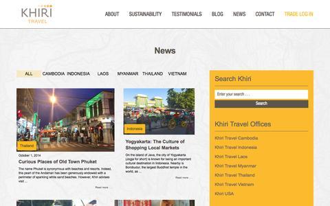 Screenshot of Press Page khiri.com - Khiri Travel | News - captured Oct. 1, 2014