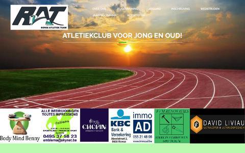 Screenshot of Home Page rat.be - Ronse Atletiek Team – Atletiekclub voor jong en oud - captured Oct. 18, 2018