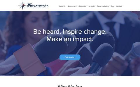Screenshot of Home Page northeastpr.com - Northeast PR, Inc. | Marketing and Public Relations Firm - captured Oct. 22, 2017