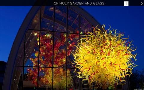 Screenshot of Home Page chihulygardenandglass.com - Chihuly Garden and Glass | View the artwork of Dale Chihuly in Seattle - captured Sept. 25, 2014