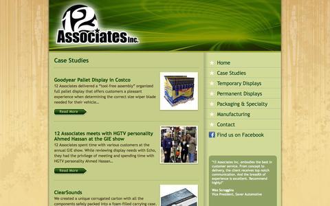 Screenshot of Case Studies Page 12associates.com - Case Studies - 12 Associates - captured Oct. 27, 2014