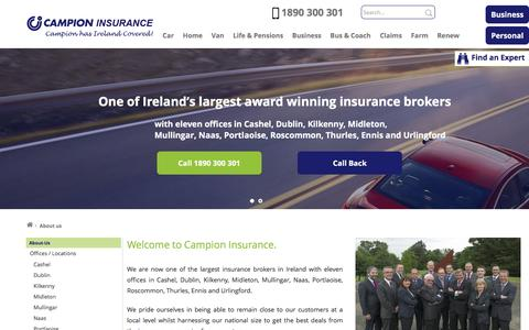 Screenshot of About Page campionins.com - About Us   Insurance Ireland   Campion Insurance Brokers - captured Oct. 18, 2016