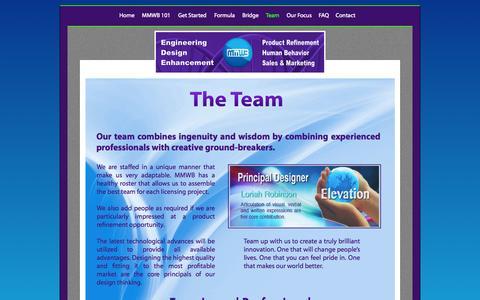 Screenshot of Team Page makingmyworldbetter.com - Team - captured Nov. 2, 2014