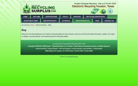 Screenshot of Blog recyclingsurplus.com - Blog - captured Oct. 27, 2014