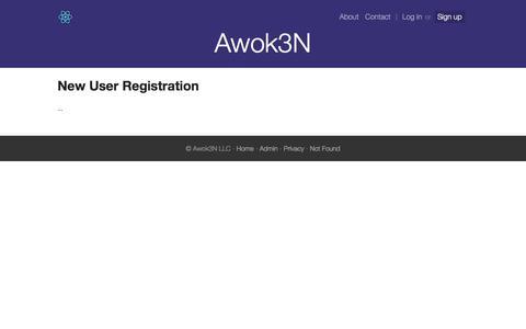 Screenshot of Signup Page vuin.com - New User Registration - www.reactstarterkit.com - captured Sept. 22, 2018