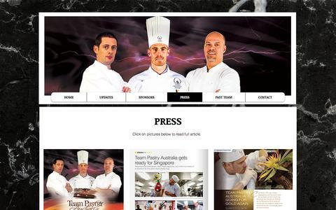 Screenshot of Press Page teampastryaustralia.com.au - Team Pastry Australia   PRESS - captured Dec. 22, 2016