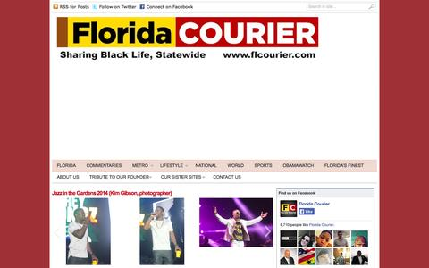 Screenshot of Home Page flcourier.com - Florida Courier | Sharing Black Life, Statewide - captured Oct. 2, 2014