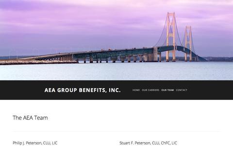 Screenshot of Team Page aeagb.com - Our Team — AEA Group Benefits, Inc. - captured Oct. 6, 2017