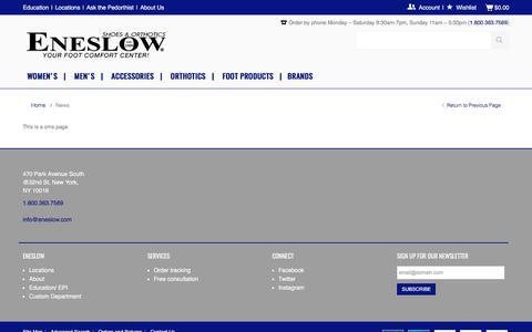 Screenshot of Press Page eneslow.com - News - captured June 21, 2017