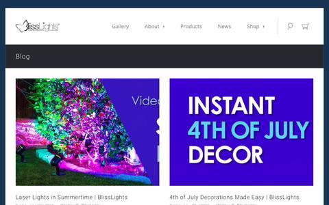 Screenshot of Blog blisslights.com - Blog - captured Aug. 2, 2018